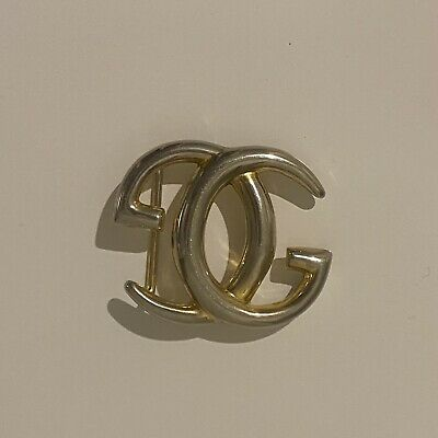 AU250 • Buy GUCCI Vintage Classic  GG  Gilded Gold Hardware Belt Buckle | Rare 80's Vintage