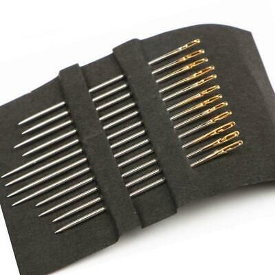 12Pcs Thick Big Eye Sewing Needle Self Threading Needles Embroidery Sewing Tools • 3.21£