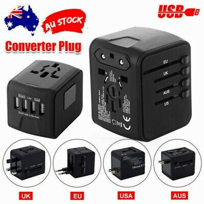 AU22.38 • Buy Universal International Travel Adapter 4 USB Power Plug Charger Converter Socket