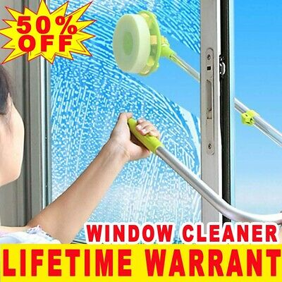 U-type Telescopic Conservatory High Rise Window Glass Cleaning Cleaner Kit New • 17.60£