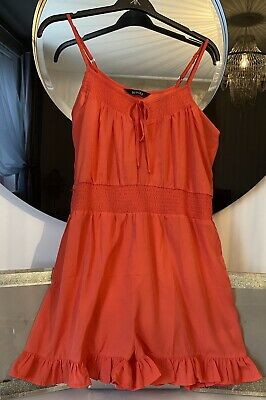 BNWOT Be You Coral Playsuit Size 16/18 Summer Holiday • 8.99£