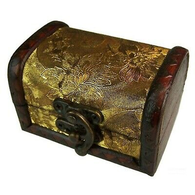 £5.69 • Buy Medium Colonial Box *Gold Panel* Treasure Chest Style Storage Trinket Box