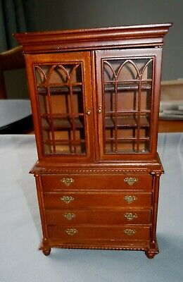Dolls House Emporium, Wood, Oak Colour Cabinet With Drawers, 1/12th Scale.  • 12.99£