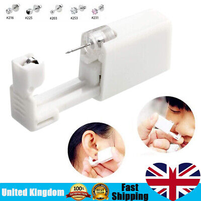 Disposable Safety Sterile Ear Piercing Gun Unit Tool With EarStud Asepsis Kit • 2.88£