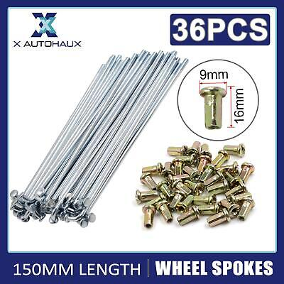 £12.87 • Buy 36 Sets 150mm Length Wheel Plated Spoke With Nipples For Motorcycle Scooter