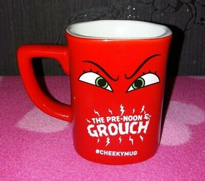 NESCAFE THE PRE NOON GROUCH #CHEEKYMUG Red Coffee Cup / Mug Collectable • 14.99£