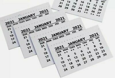 £1.99 • Buy 2021 Mini Calendar Tab Pads Tear Off Sheets Month To View X 6 Pads  XMAS