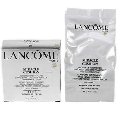 Lancome Foundation Miracle Cushion Liquid Compact Refill 01 Pure Porcelaine NEW • 23.99£