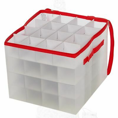 Christmas Tree Ornament Storage Box Xmas Bauble Bag Up To 64 Baubles • 8.79£