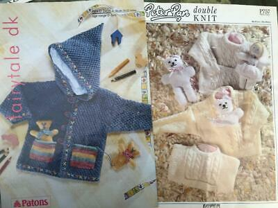 2 Baby/Toddler Patterns Clothes & Toys Peter Pan P757 Jumper Doll Teddy Coat • 2£
