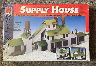 $ CDN25.25 • Buy Life Like 1398 Ho Scale Supply House Model Trains Layout Building Kit