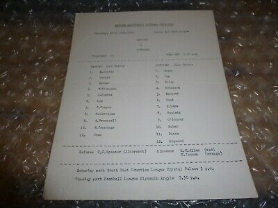 Watford Reserves V Southend United Reserves On Thursday 10th April 1969 • 4.99£