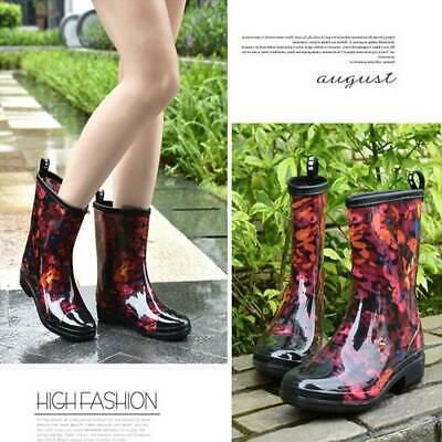 Women Wellies Flower Garden Festival Rain Waterproof Wellington Boots Rain Boot • 22.49£