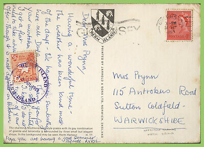 Guernsey / Herm Island 1969 8d Local Issue Map On Postcard • 1.75£