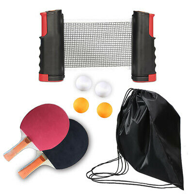 AU22.98 • Buy Table Tennis Ping Pong Set 2 Paddle Bats With 4 Balls Extending Net Fitness Gift