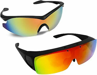 AU106.91 • Buy Bell+Howell Tac Flip And Tac Glasses One-Size-Fits-All Polarized Sports Sunglass