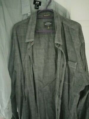 Long Sleeved Shirt Bundle Of 2, Quicksilver XL And H&M L Both Grey • 2.40£