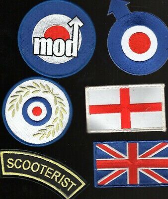 $9.71 • Buy Mod Scooter Iron-on Sew-on Patches Job Lot Free Post Uk