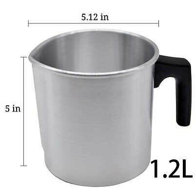 1.2L Wax Melting Pot Pouring Pitcher Jug Aluminium Candle Soap Make Thermometer • 12.98£