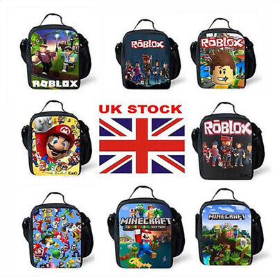 NEW Kids ROBLOX Insulated Lunch Box Bag Boy Girl School Picnic Snack Cool Bag UK • 10.98£