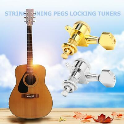 $18.29 • Buy 6pcs 6R String Tuning Pegs Locking Tuners Keys Machine Heads For Acoustic Guitar