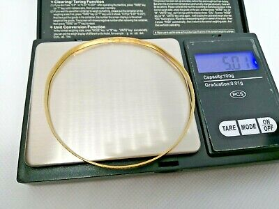Ladies 9CT GOLD SOLID Hallmarked DIAMOND CUT BANGLE 5gms NOT SCRAP By F M • 76.16£