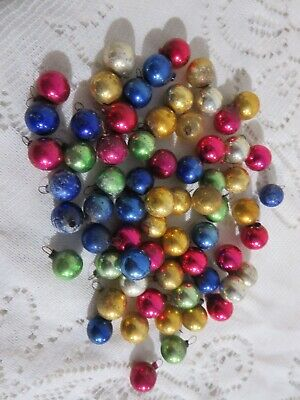 $ CDN16.45 • Buy 66 Vintage Small Round Multi Colored Glass Christmas Ornaments 1/2