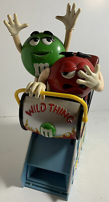 $25 • Buy M&M's Wild Thing Roller Coaster Dispenser Limited Edition Rare Silver M & Mm