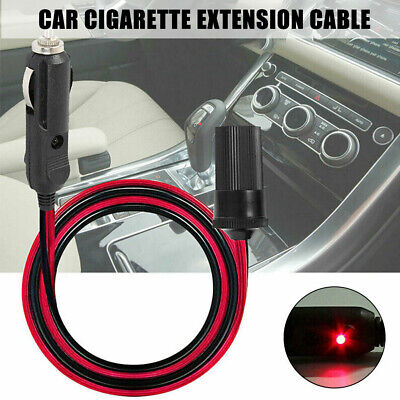 £8.09 • Buy 5M Car Cigarette Cigar Lighter Socket Extension Cable Charger Adapter Black Red