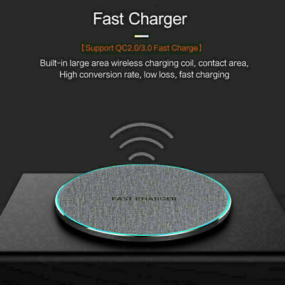 AU16.69 • Buy AU 15W Qi Fast Wireless Charger Mat Charging Pad Station For IPhone 12 Pro 11 XS