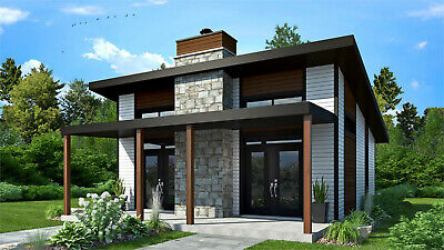 Custom Modern Tiny House Home Building 3 Bedroom 2 Bathroom Plans With CAD File  • 7.86£