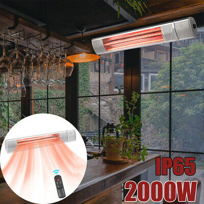 2000W Electric Patio Heater Wall Mounted Garden Outdoor Outside Remote Control • 75.99£