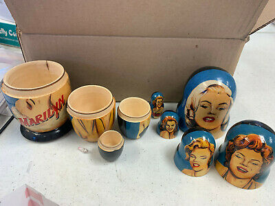 Marilyn Monroe Nesting Doll/Russia/5-pieces 4.5  Set/Wood-Decal • 21.91£