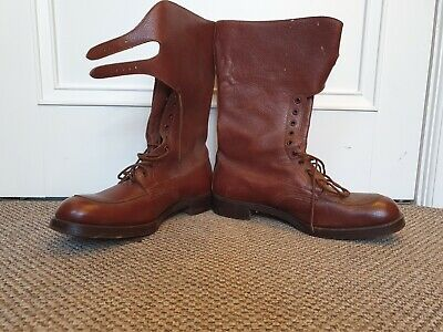 $284.91 • Buy Vintage Military RAF Boots - Size 10 By Crockett & Jones. Date Stamped 1945