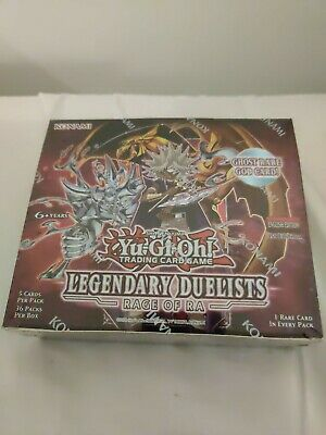 YuGiOh Legendary Duelists Rage Of Ra Sealed Booster Box Of 36 Packs 1st Edition • 75£