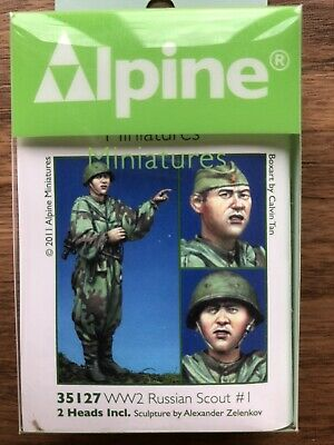 1/35 Scale Model Figure: Alpine Miniatures 35127 WW2 Russian Scout #1 • 10.85£