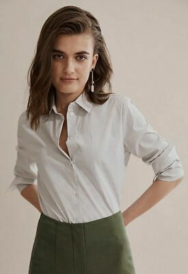 AU38 • Buy Country Road Stripe Button Through Shirt Size 10, S  Sage BNWT RRP $99.95