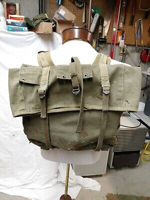 $9.95 • Buy WWII WW2 USMC M1941 M41 Back Pack  UPPER Pack Bag Unmarked & Rough CND Military