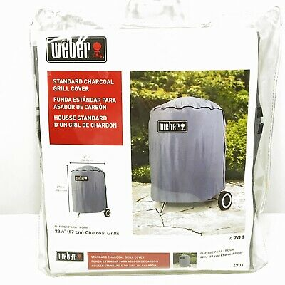 """$ CDN22.43 • Buy Weber Basic Kettle Cover Gray #4701 - 27"""" X 27"""" (Fits 22 1/2"""" Grill) New/Sealed"""