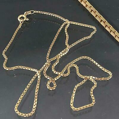 AU195 • Buy Italian 9k Solid Yellow GOLD NECKLACE / Pendant BOX LINK CHAIN