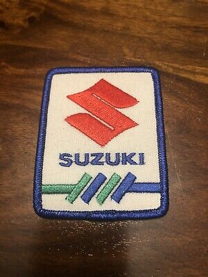 $2.99 • Buy Vintage Suzuki Motorcycle Embroidered Iron-On Patch 3.25  X 2.5