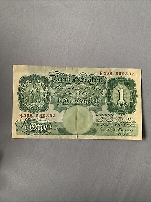 Bank Of England Old One Pound Note • 1.70£