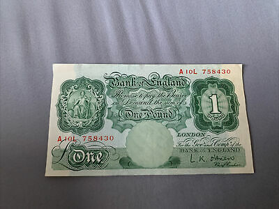Bank Of England Old One Pound Note • 4.20£