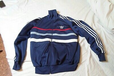 ADIDAS WEST GERMANY Track Jacket Sweatshirt Top Zip Retro Vintage! • 50£