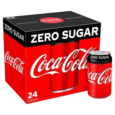 Coke Zero Sugar Diet Coke Pack Of 24 330 Ml Cans Fizzy Drink Coca-Cola Real • 9£