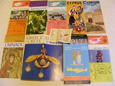 Vintage Lot Of Maps,brochures,relating To Cyprus And Crete 1960/70s • 5.99£