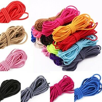 $ CDN3.10 • Buy 5M 2mm Round Elastic Thread Cord Rope Rubber Band Elastic Bands Stretch  Line