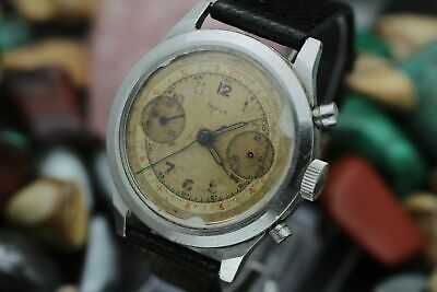 $ CDN648.57 • Buy Vintage DOXA Chronograph Valjoux 22 Stainless Steel Spillman Case Men's Watch