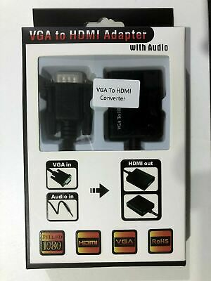 AU19.87 • Buy VGA - HDMI Female To Female Video Adapter Cable Converter With Audio HD 1080p