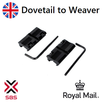 £5.49 • Buy Dovetail To Weaver Rail Mount Rifle Adapter Scope Mount Converter 11mm - 20mm